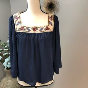 Flying Tomato embroidered boho crop